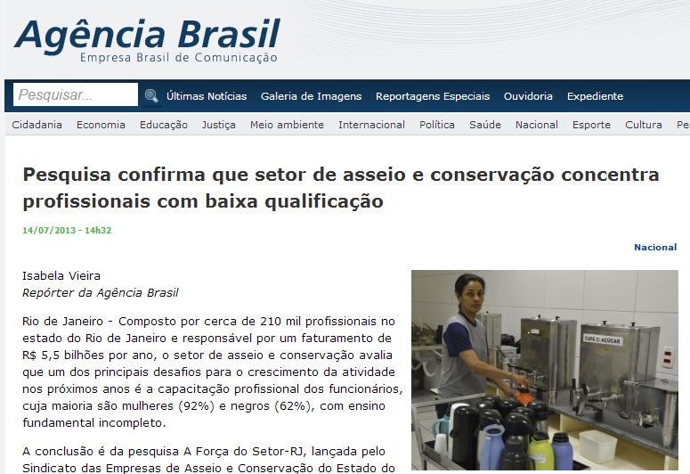 Agência Brasil 14 de julho 2013