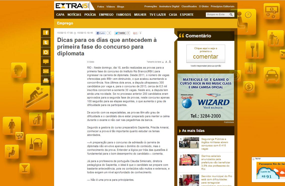 Extra Online - 15 agosto 2013