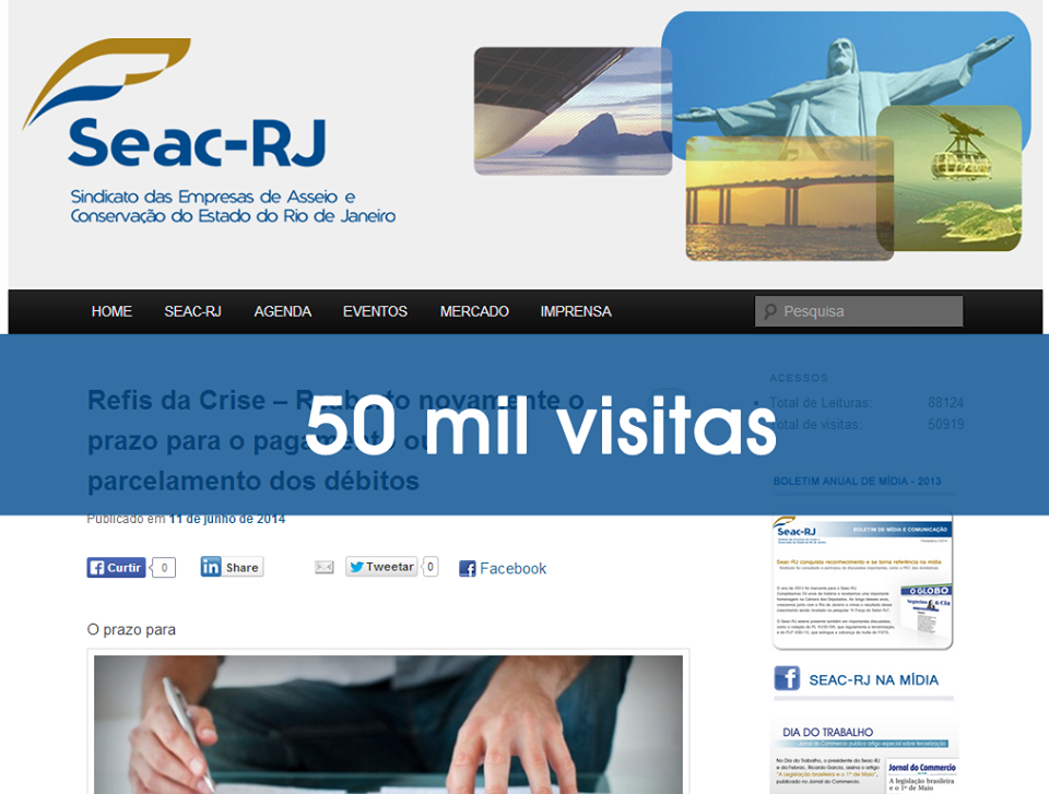 50 MIL VISITAS NO BLOG DO SEAC- RJ